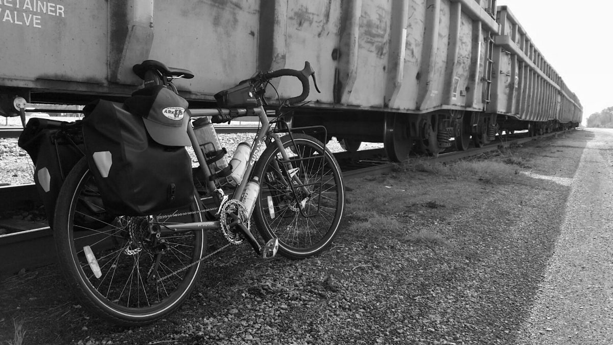 Sterling Minick's trusty commuter: a Surly Disc Trucker