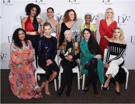DVF Awards 2017 | Sarah Jones, Tracee Ellis Ross, Diane von Furstenberg, Cynthia Erivo, Laura Brown, Allison Williams, Karlee Kloss, Yaoni Sanchez, Baljeet Sandhu, Jane Goodall