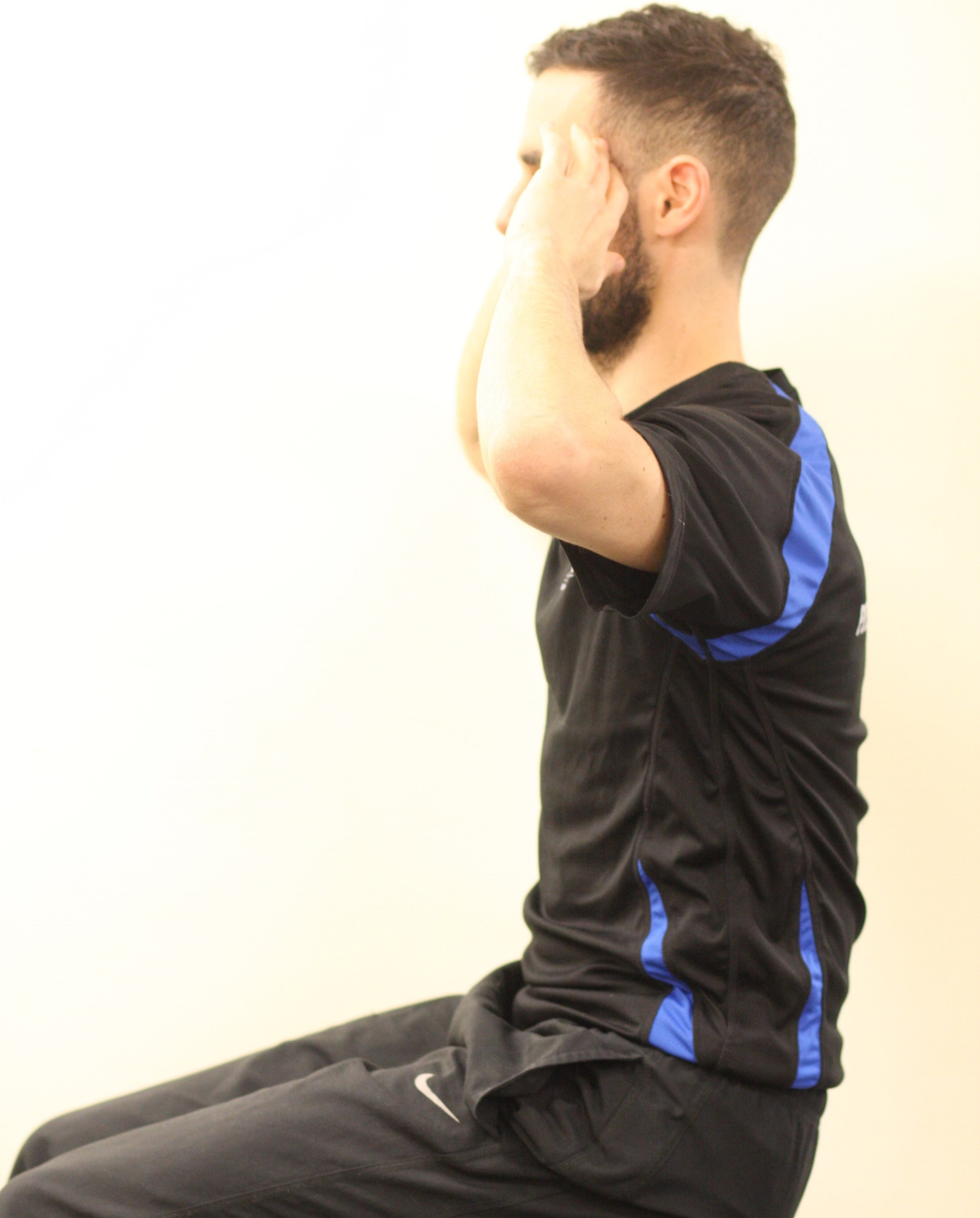 Crunch action apply to sitting posture and resulting in loss of neutral curviture of spine