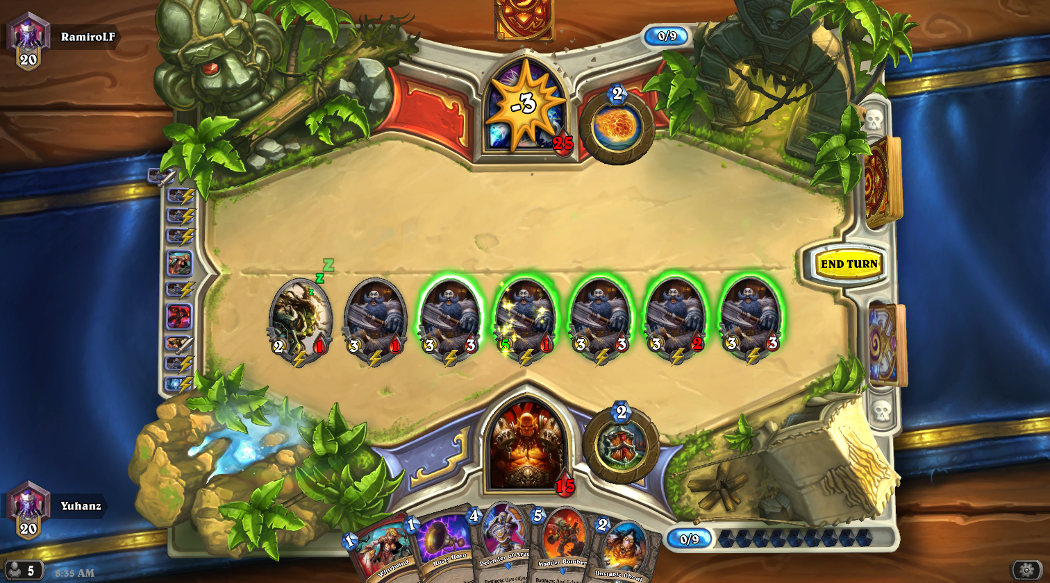 """Certain strategies, such as the """"Patron Warrior"""" deck, were extremely potent in the right player's hands. Instead of minor tweaks to make these combos not quite as terrifying, Blizzard removed them from the game entirely, leading to outrage from fans who had spent countless hours practicing some of the most intricate and difficult strategies in the game."""