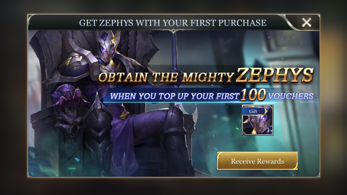 The first voucher purchase a player makes is incentivized with a special offer. Players are given a free hero when they make any Voucher purchase, which makes it very tempting to do so.