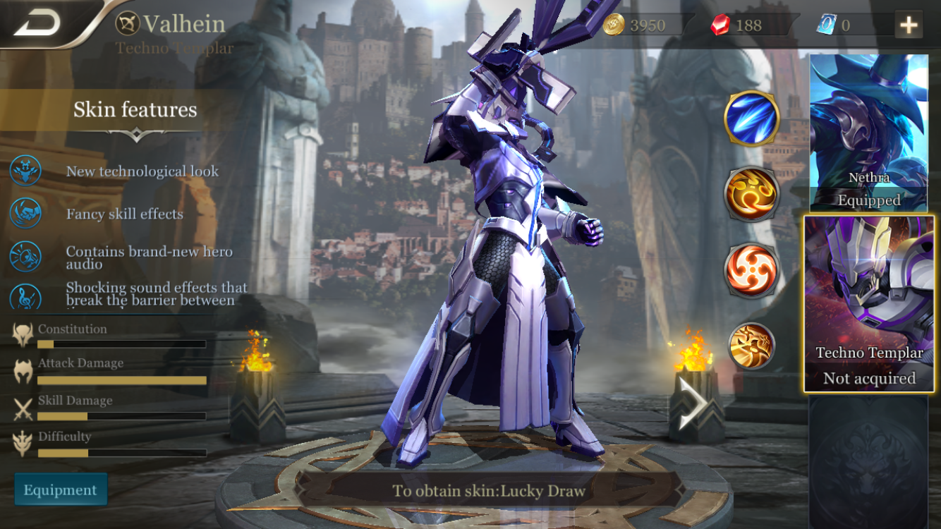 The game has multiple skins in the game, some of which look really cool and give some characters an entirely different and cooler visual appearance.
