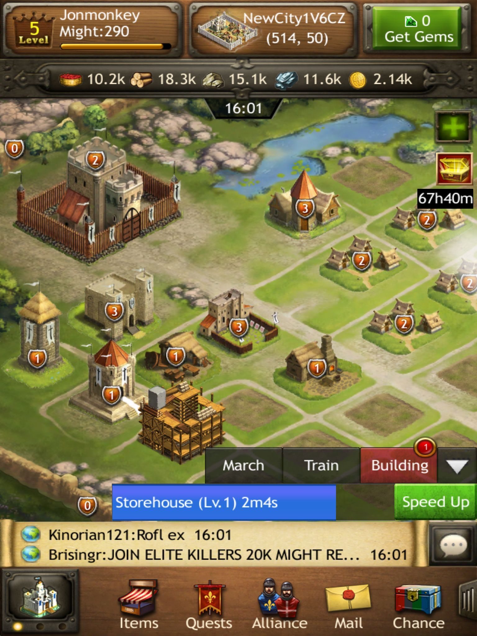 The now familiar portrait style and isometric city view can be traced back to Kingdoms of Camelot on mobile, released in 2011. 3 whole years before Game of War, and a game that GoW borrowed very heavily from.
