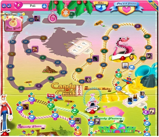 Candy Crush Saga was the pioneer of using subtle competition to drive progression in casual games. Being able to see how much progress you've made compared to your friends creates competition via the fear of being last among your peer group.