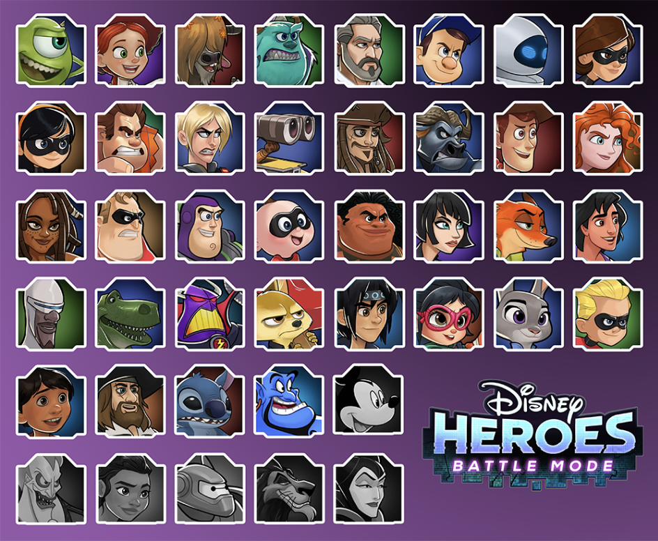 The hero roster, new heroes are added regularly