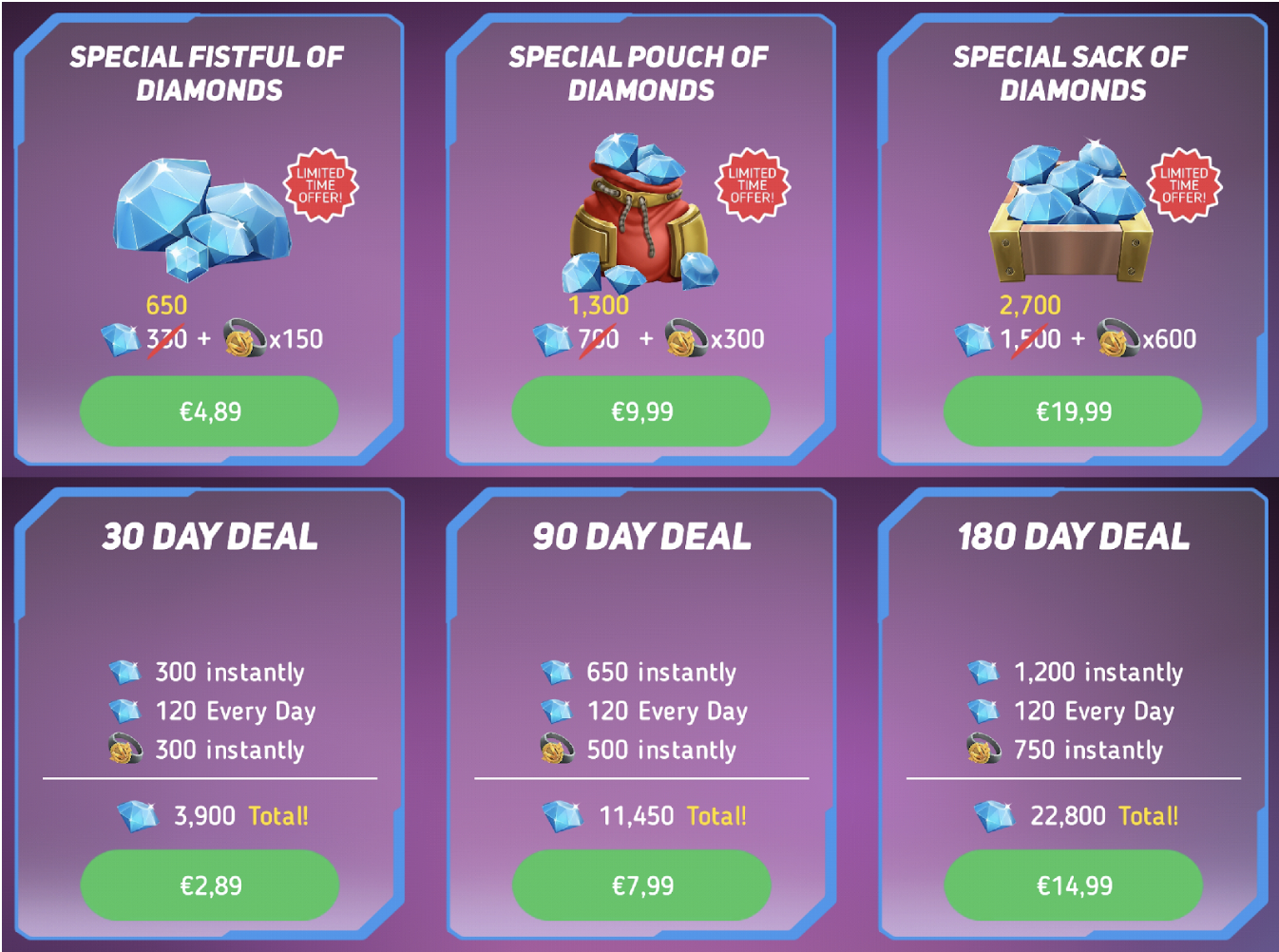 The first 3 packs of the one-off and subscription sales