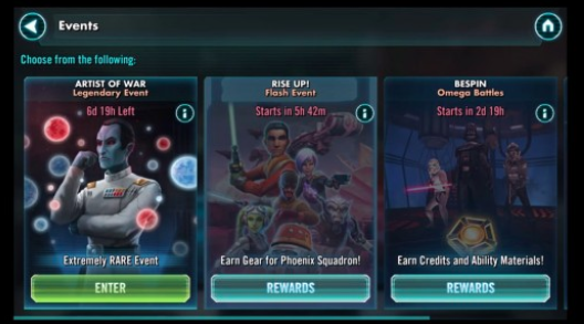 Where are the restricted events in AFK Arena?