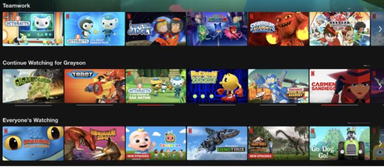 Các con tôi không đòi xem chương trình, chúng đòi xem Netflix.  Và hầu hết các thương hiệu lớn mà họ yêu thích là vì Netflix.  Đây chỉ có thể được mô tả là Mối quan hệ từ lâu đời giữa Netflix và khách hàng.