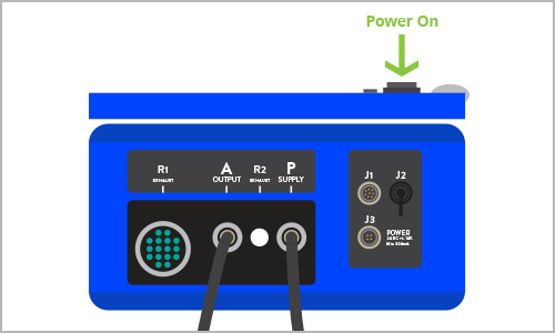 """STEP 8    Fasten  SRCU G2 Power Cable to J3 of SRCU G2. Strip black insulation from cable and then individual wires and hook up to a 24V DC power supply   Power """"ON""""  the SRCU G2 and it should begin to run its Power-On Self-Test (P.O.S.T.).   (Please see the SRCU G2 Instructions for Use for detailed wiring instructions and power color coding)"""