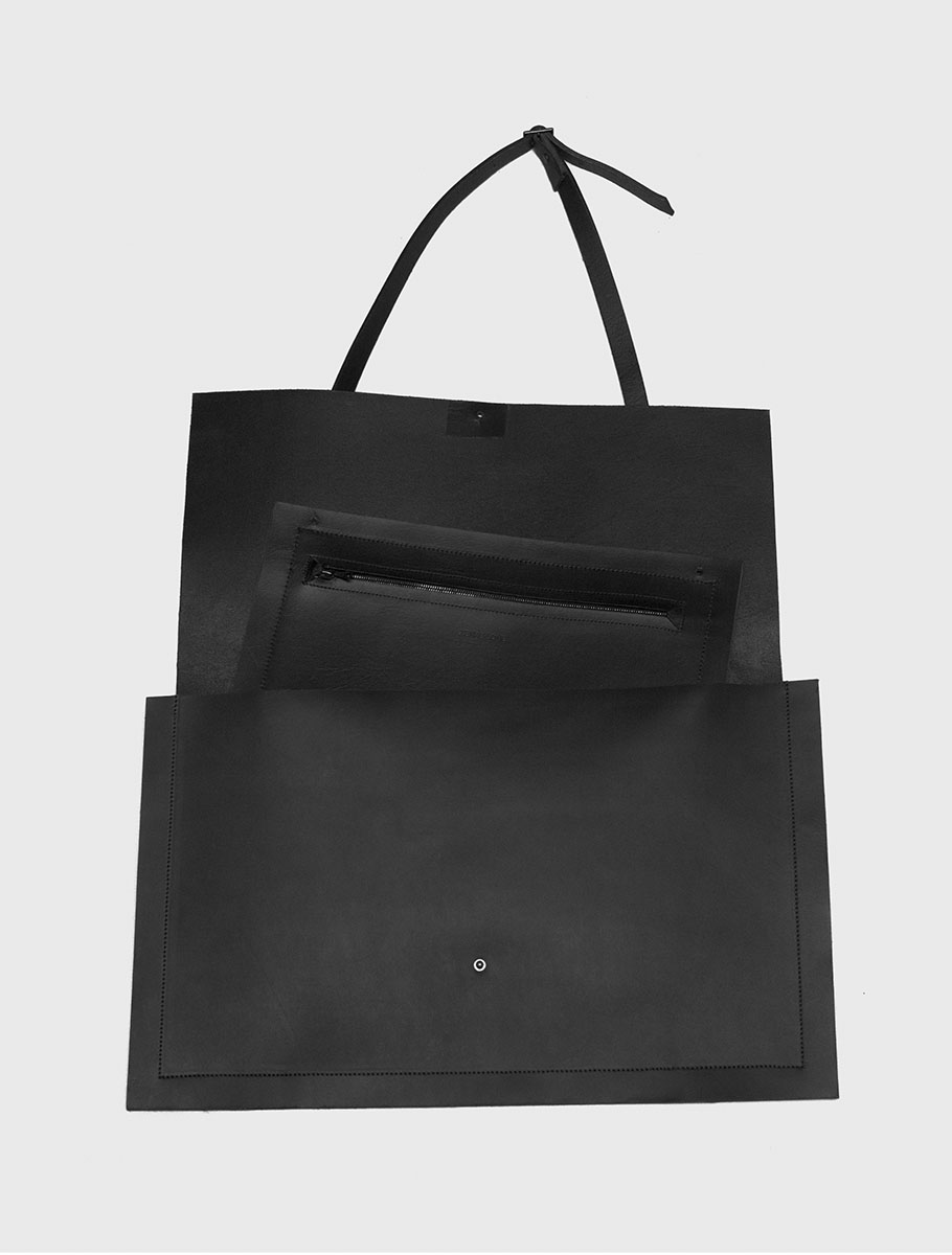 Large Leather Portfolio Bag open.jpg