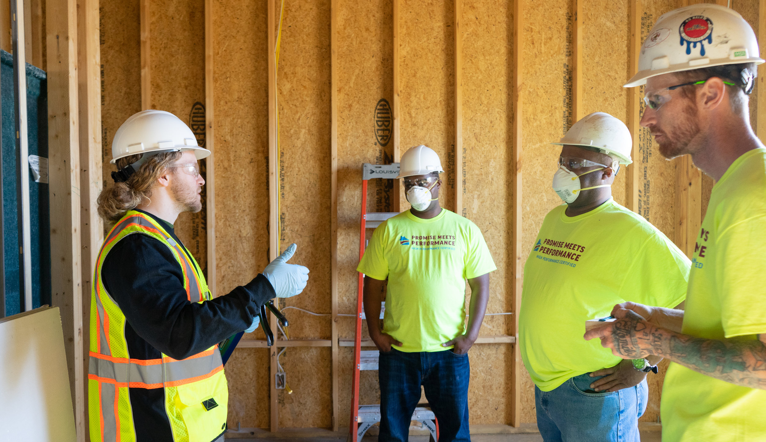 Clint Shireman attends all High Performance Insulation Training Workshops as one of our instructors. Here he is demonstrating Air Sealing and Grade I Batt Installation at the Wichita, KS workshop in April 2019.