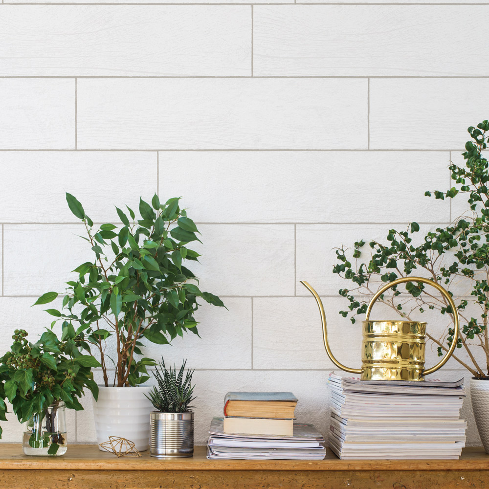 TEXTURED SHIPLAP PLANKS  WHITE WASHED