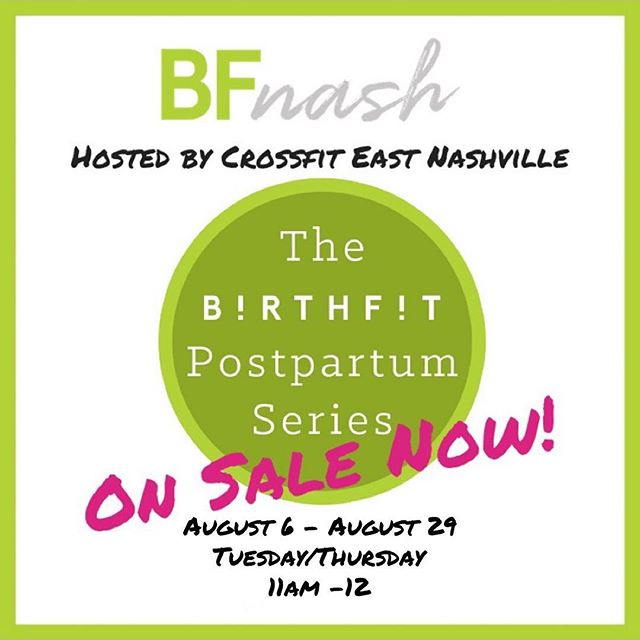 Posted @withrepost • @melissabellsheffield I am sooo pumped to be coaching our next postpartum series coming up in August at @crossfiteastnashville!! I've heard such great things about their space and their community so I can't wait to see them in action!! • To get signed up head to BIRTHFITNashville.com • Now that you've brought a baby into the world, it's time to rehab your body, mind & soul. In this 8-session group training series, you will establish a solid core foundation, wake up your posterior chain, & enhance your posture through safe, effective functional movements that transfer into everyday life tasks. Come prepared to move, sweat, & connect with other new mamas. Non-mobile babies welcome! • • • @birthfit @birthfit_nashville @crossfiteastnashville #birthfitnashville #birthfitpostpartumseries #postpartumseries #movement #nutrition #mindset #connection #postpartumbody #postpartumisforever #postpartumfitness #eastnashville #momlife #strongasamother #nashvilleparent #nashvillemom