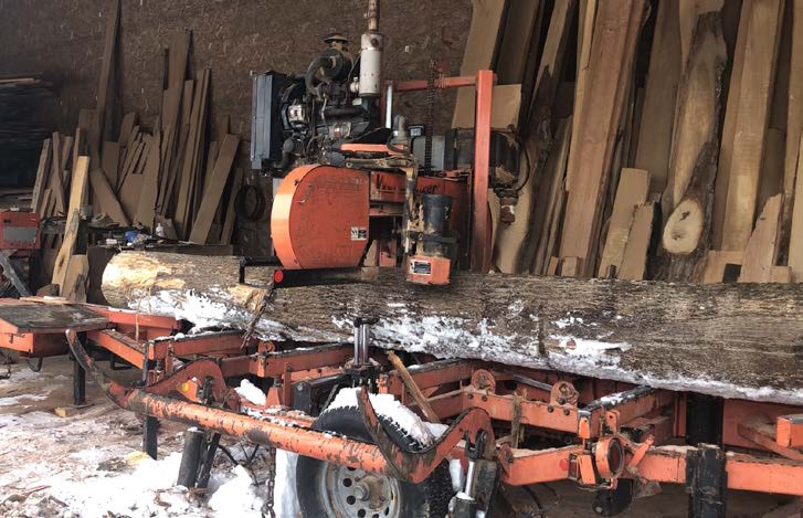 Sawmill - Custom sawing services allows customers with their own logs to be sawn to meet their specific needs. Carson's also mills their own lumber to maintain a stock of lumber available for purchase as well. Currently, Carson's is on their fourth Woodmizer since opening in 1986.