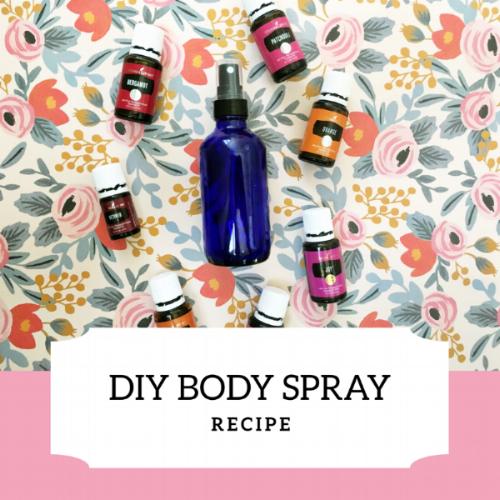 DIY gifts for mom- Body Spray