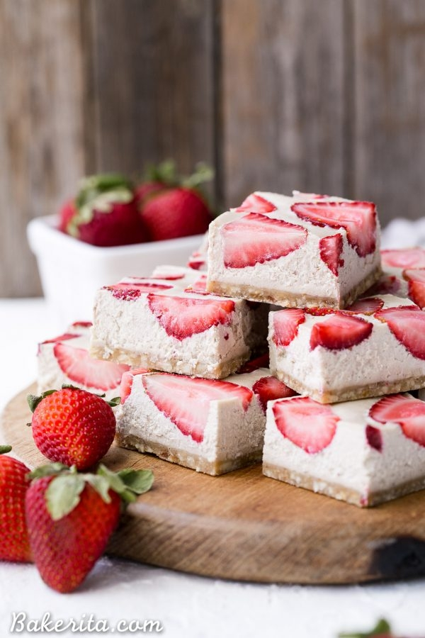 No Bake Strawberry Shortcake Bars - The Best Paleo Desserts For Summer Gatherings That Your Guests Will Rave Over