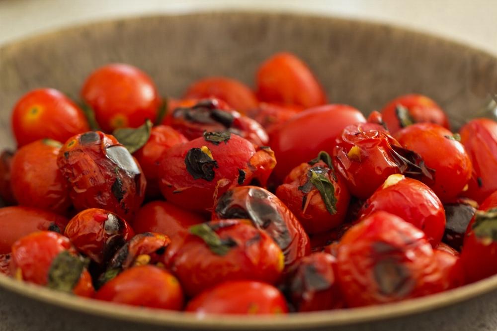 Grilled Garlic and Basil Cherry Tomato Recipe