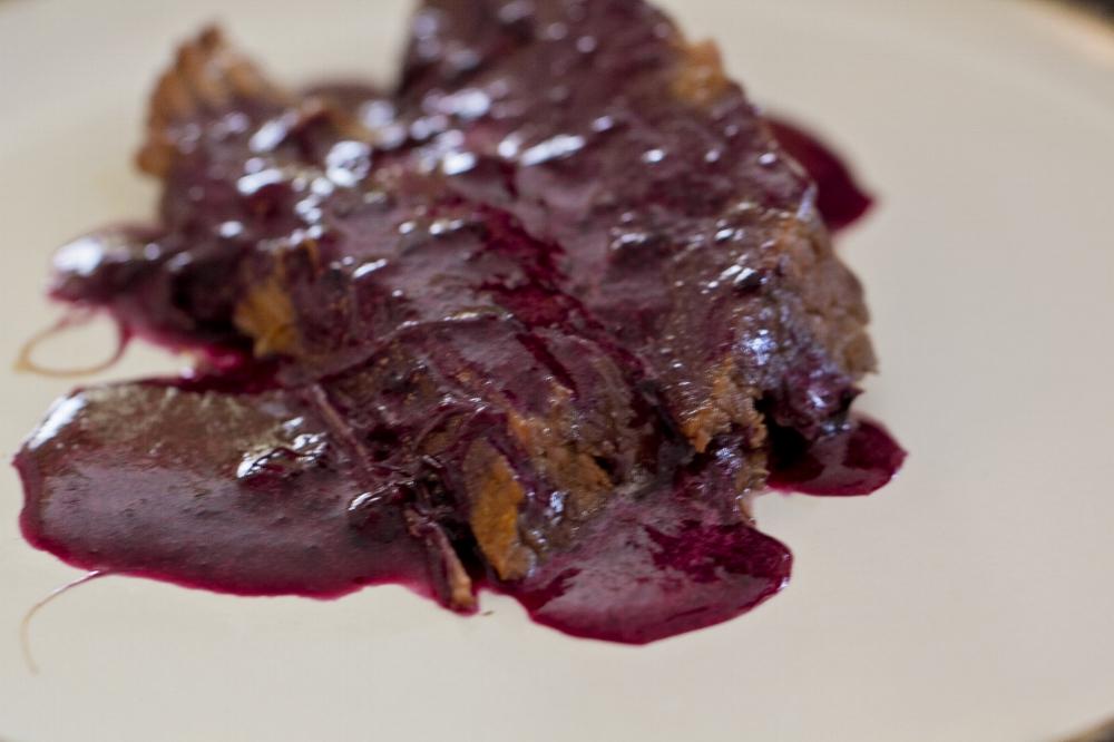 Paleo Crockpot Brisket WIth Blueberry Sauce Recipe