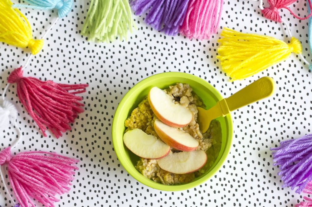 Healthy Kids Meal Ideas- Apple Cinnamon Steel Cut Oatmeal