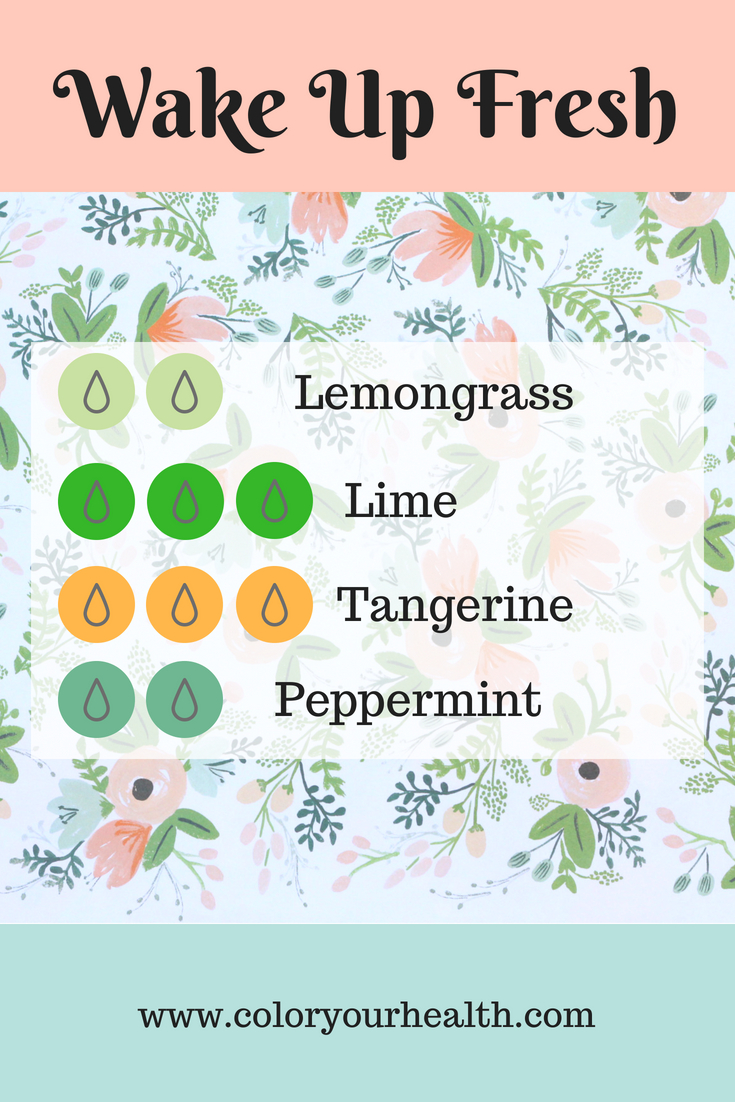 Energizing Essential Oil Diffuser Blends