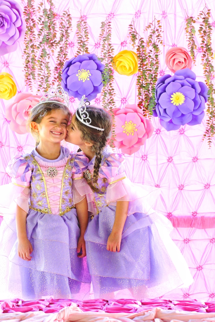 Princess birthday party food, decor, backdrop, and dessert ideas. I love DIY projects, especially when it comes to a birthday party for my girls!