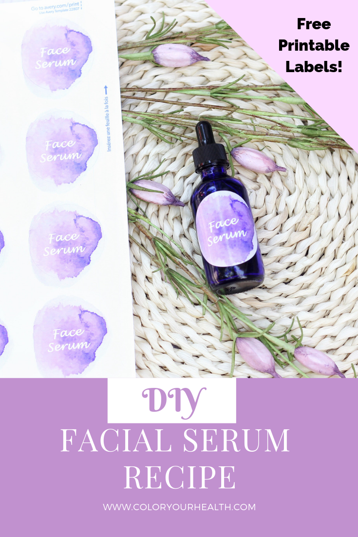 This easy DIY face serum recipe uses natural ingredients and essential oils to give you moisturized, glowing skin! Bonus free printable labels included!