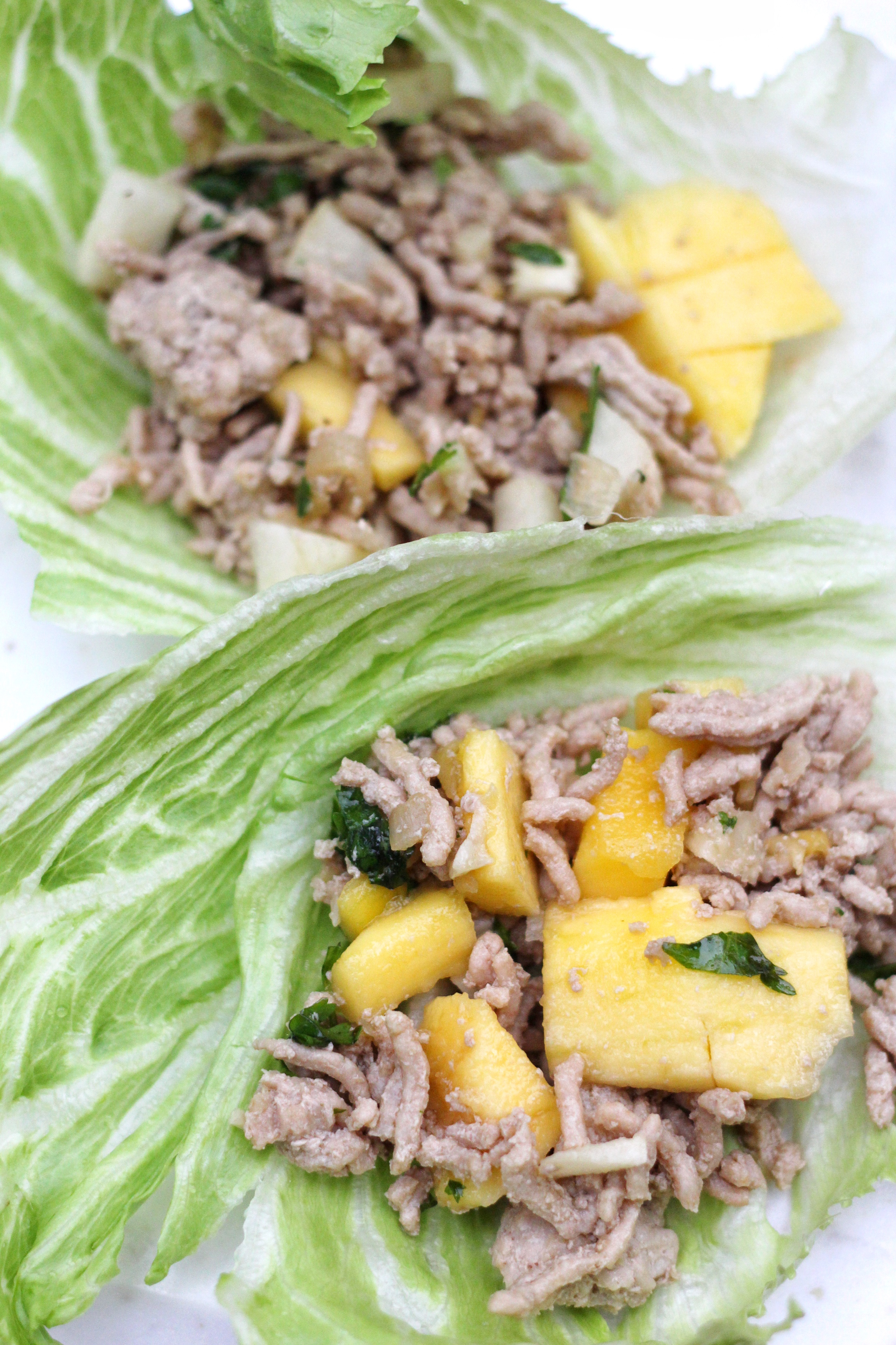 This healthy lettuce wrap recipe gets a Caribbean twist with mangoes and jicama. This dish is also low carb, paleo, and gluten free!
