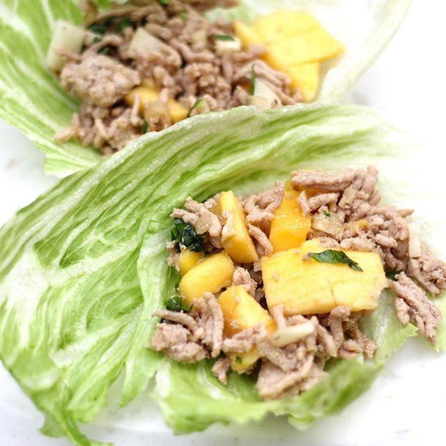 🥭 🥭 🥬 🥬 A new recipe is up on the blog and if you like lettuce wraps or mangoes you must check it out! These Caribbean Lettuce Wraps are delicious and can be worked into any clean eating diet, including #Paleo #glutenfree and even #vegetarian Link in my profile!