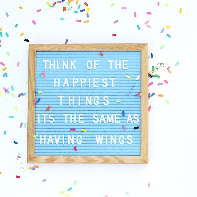 "•Peter Pan • . Thinking happy thoughts for this week! We are headed back ""home"" to KC at the end of this week and it's giving me alllll the happy vibes! What's one thing you are happy about this week . . . . . #coloryourhealthquotes #disneyquotes #disneyquotestoliveby #peterpan #peterpanquotes #motivationmonday #happythoughts  #thinkhappy #positivevibes #feltlikesharing #letterboard #disneymom #disneylife"