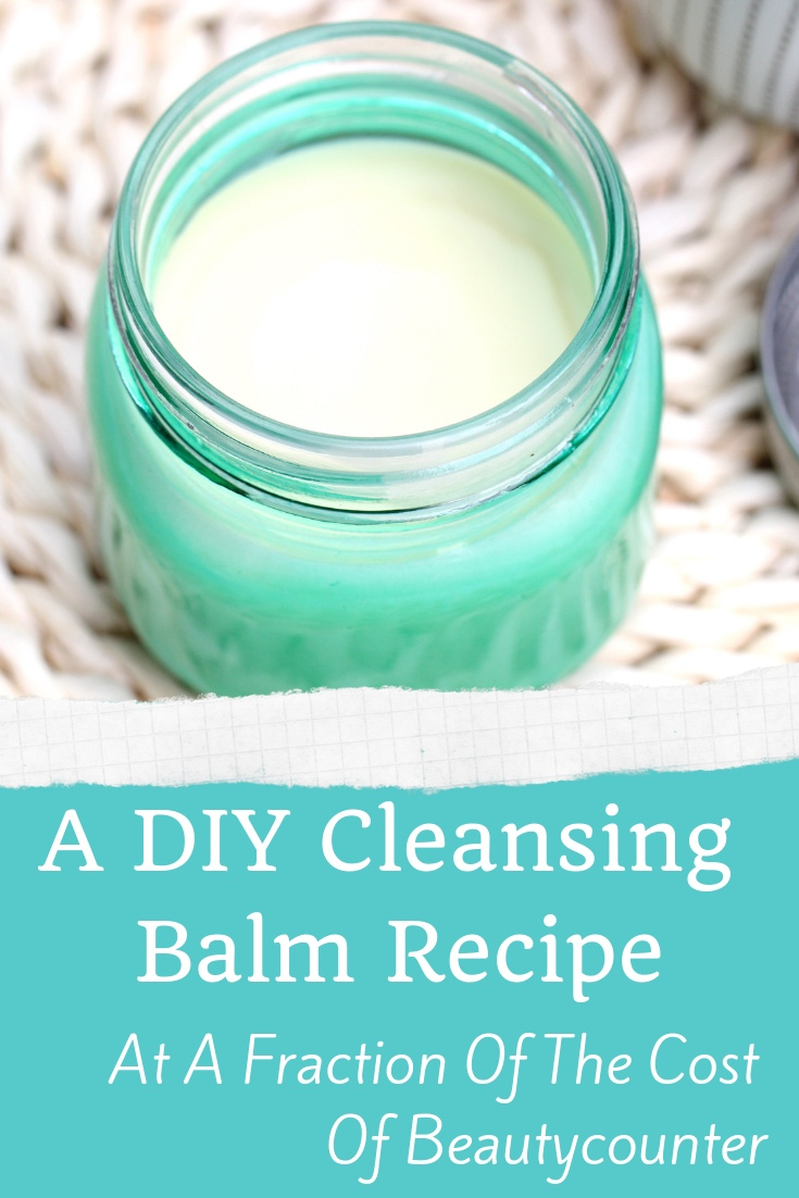 This cleansing balm DIY recipe is just like the Beautycounter variety but at a tiny fraction of the price!