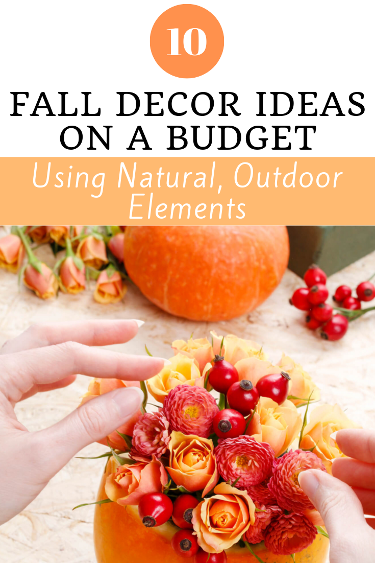 Budget friendly fall decor DIY ideas. These autumn decorations feature natural elements that can be found outdoors!