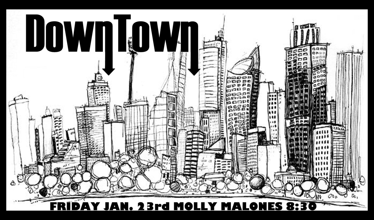 We're back at Molly Malone's on Friday, January 23rd! First show of 2015 is gonna be a doozy! Come join us (and a giant half-naked lady on the wall) for a dancin' good time! We're on at 8:30PM! See you there!