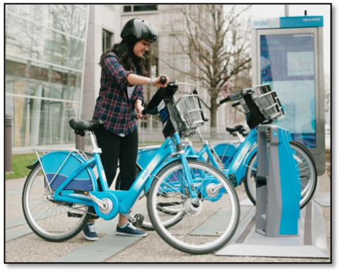 Figure 1 - Indego bike and kiosk