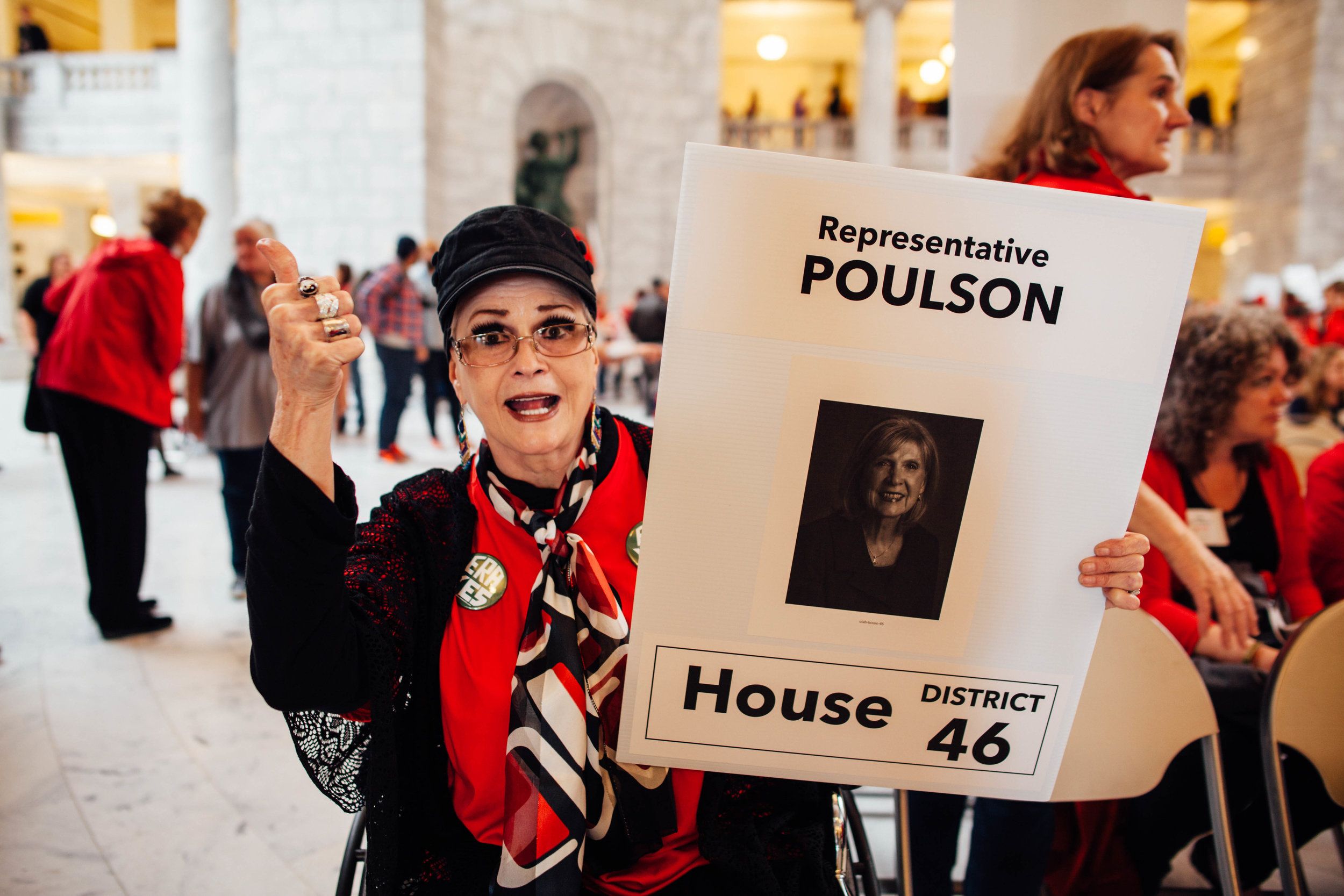 Sharon Griffiths, from Cottonwood Heights, said it is great to see Utahans of all ages reinvigorated for the advancement of women's rights.