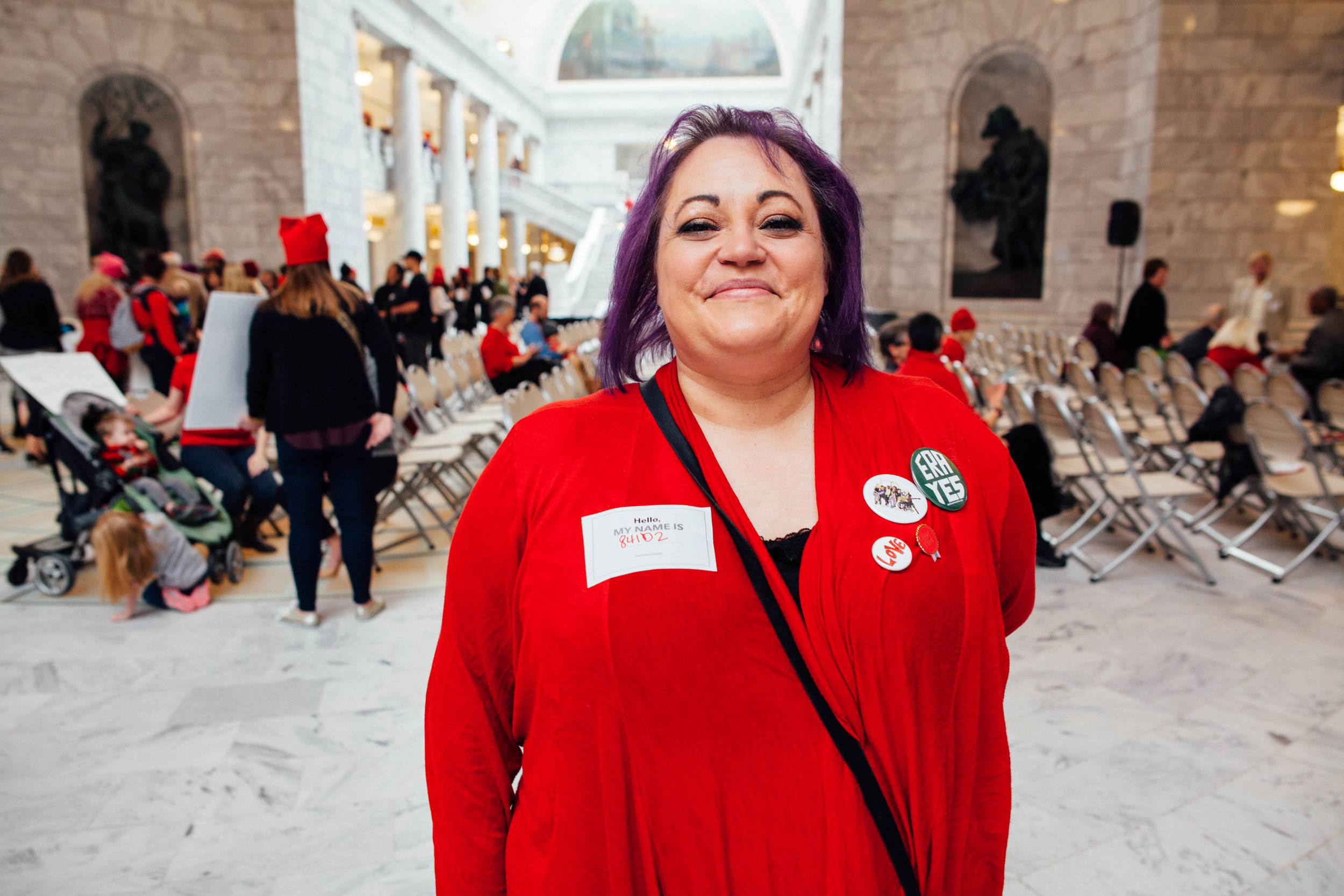 Jennifer Thomas, a Salt Lake City resident, said she hopes to see the Equal Rights Amendment (ERA) passed in her lifetime.