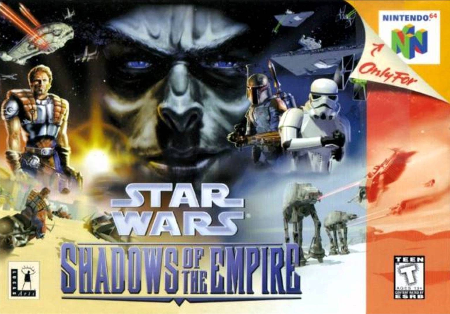 cover for star wars: shadows of the empire on nintendo 64