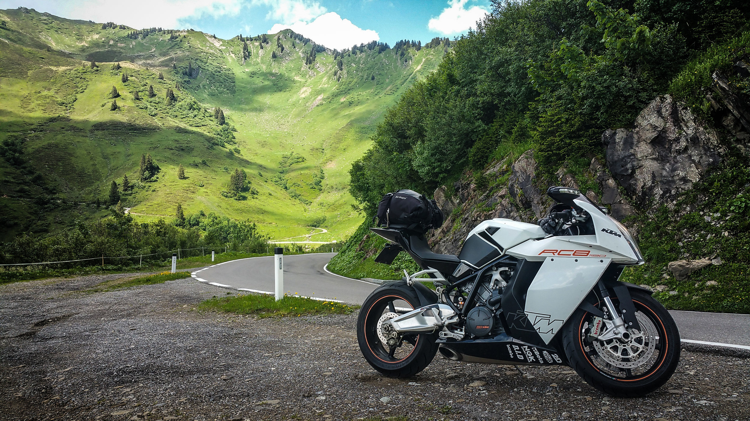 Austria's famous Furka Pass. Attempt on a sportsbike at your peril. Picture: Ben Lindley