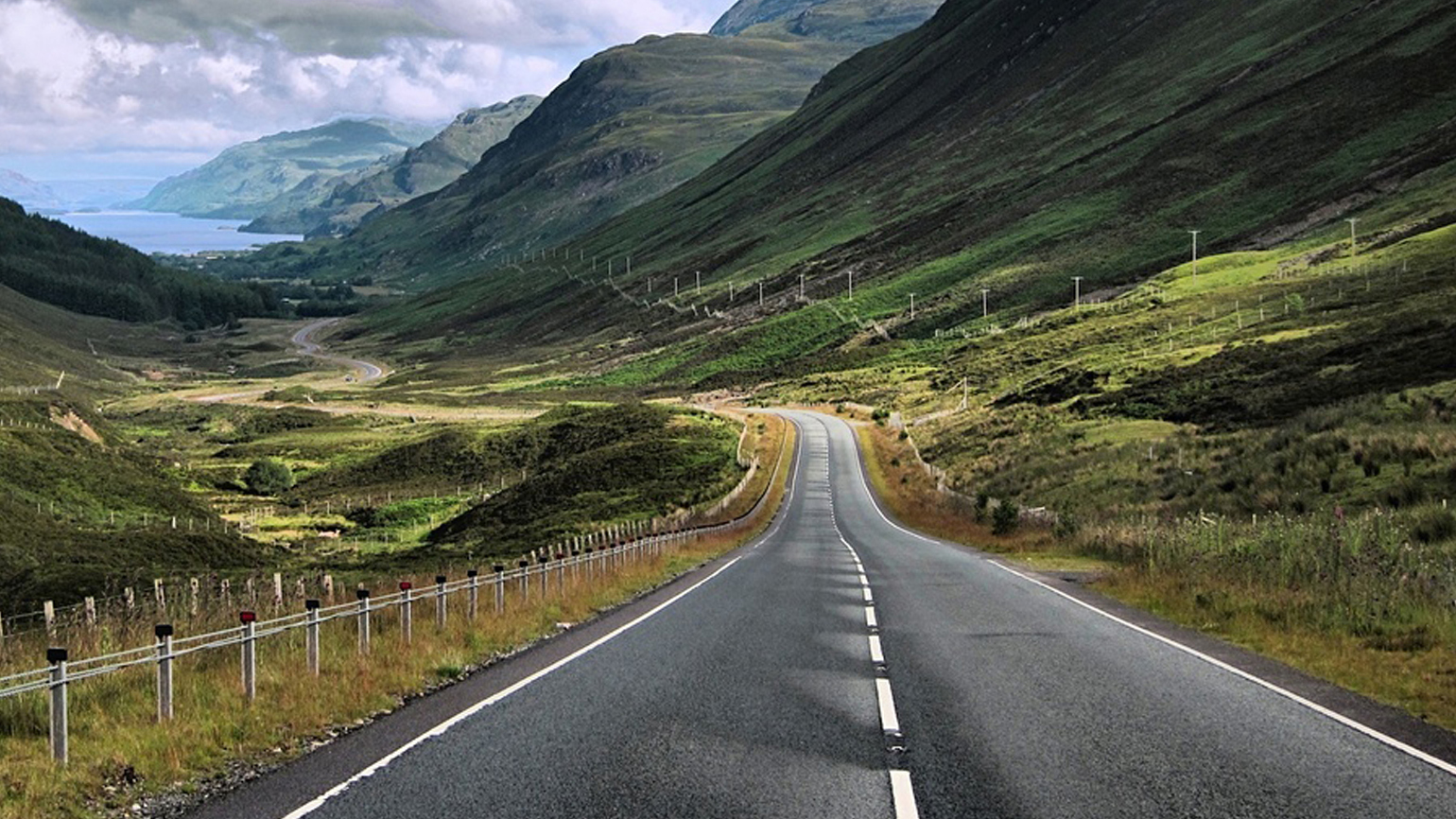 Scotland's landscape just gets more beautiful the further you ride north.