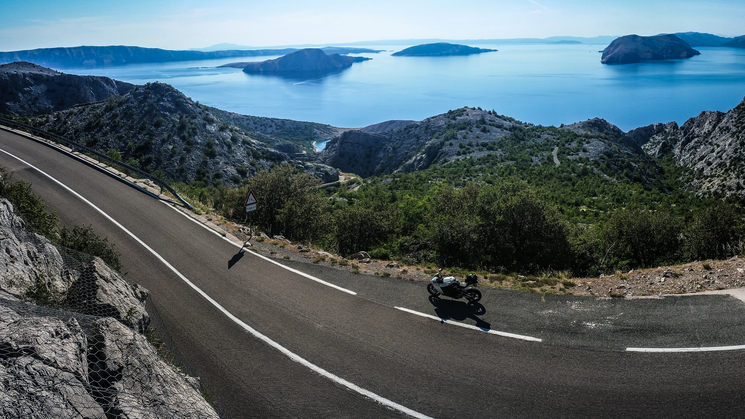 The view from the E65, just south of Senj. Picture: Ben Lindley