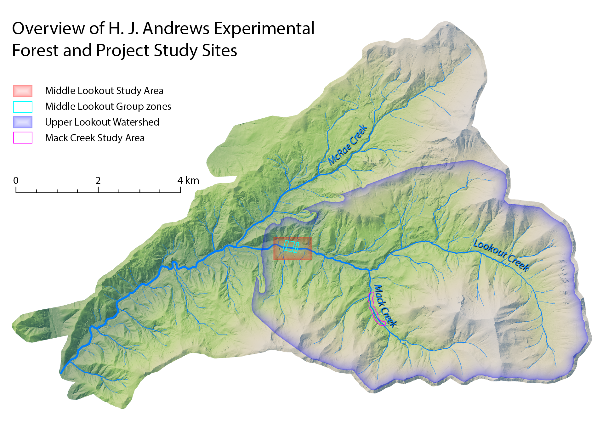 HJ Andrews Reference Map
