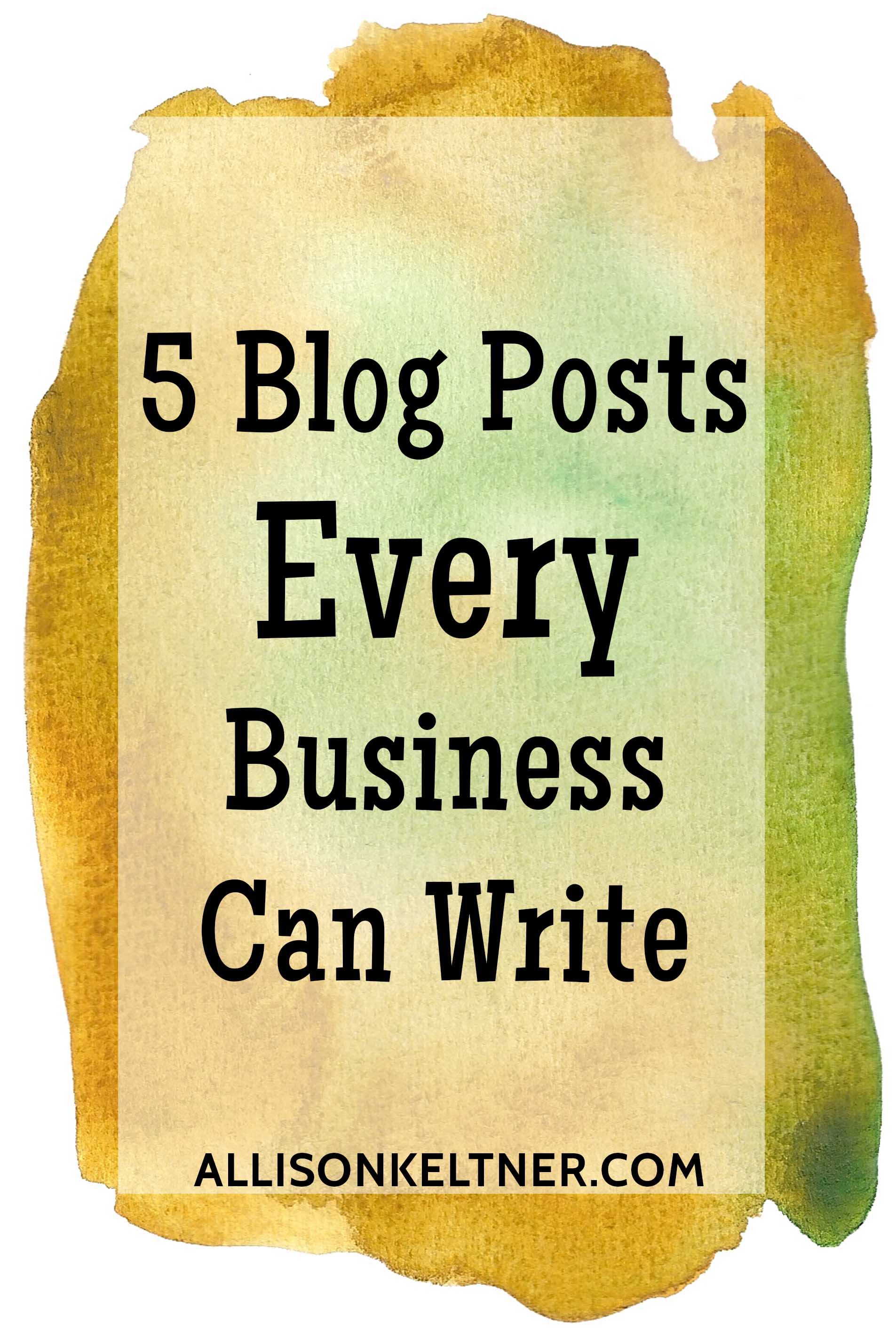 blog post ideas for small businesses
