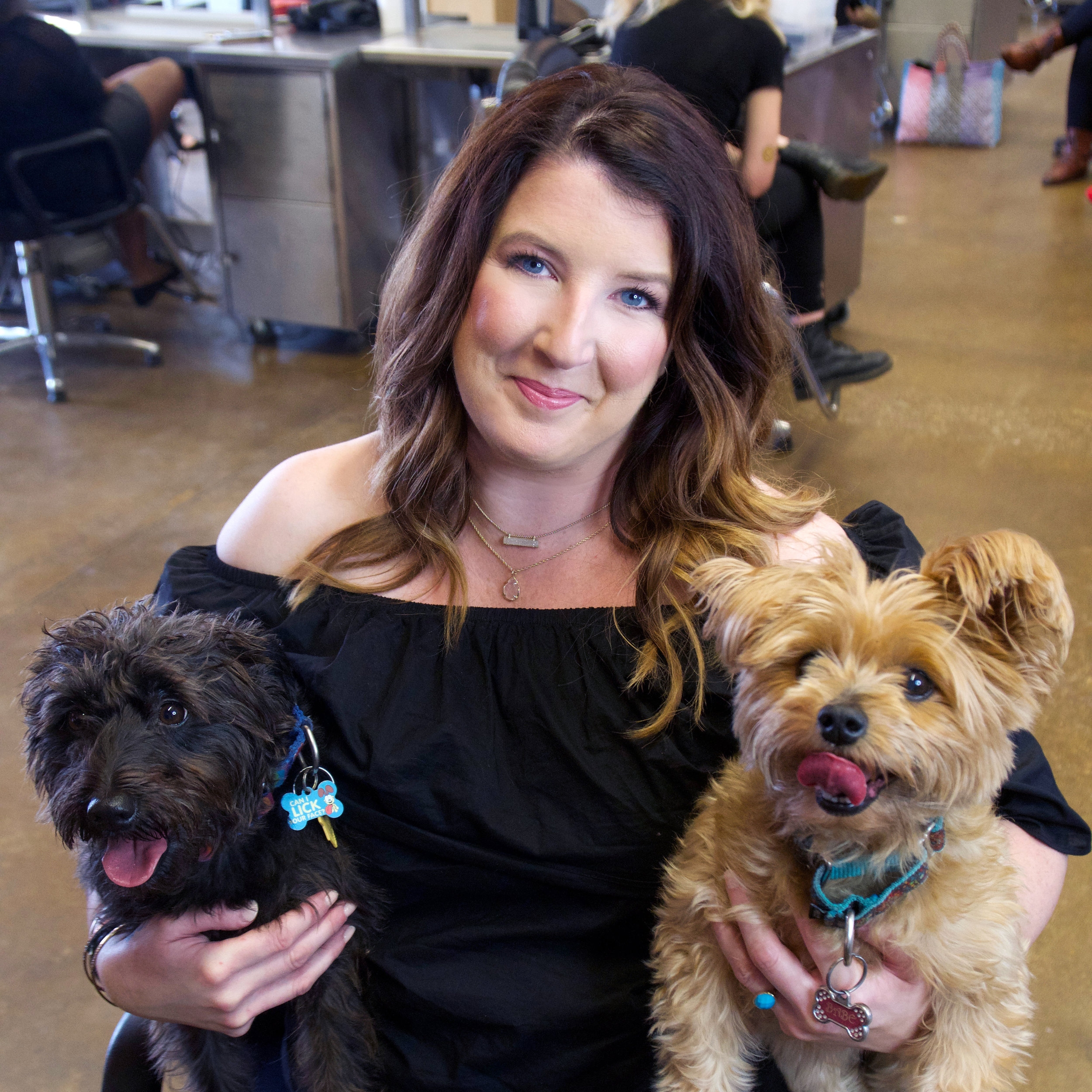 angela-robertson-and-two-dogs