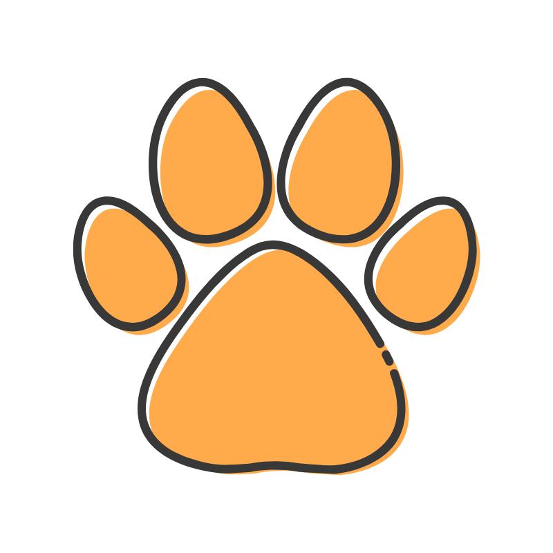 orange-paw-print