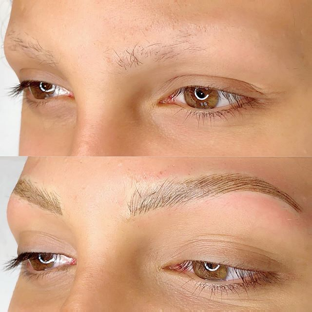 My #beautiful client with #Alopecia gave me the opportunity to give her back her #eyebrows. I'm so grateful 🙏. #microblading #microbladedbrows #beverlyhills  SWIPE RIGHT ➡️ to see more