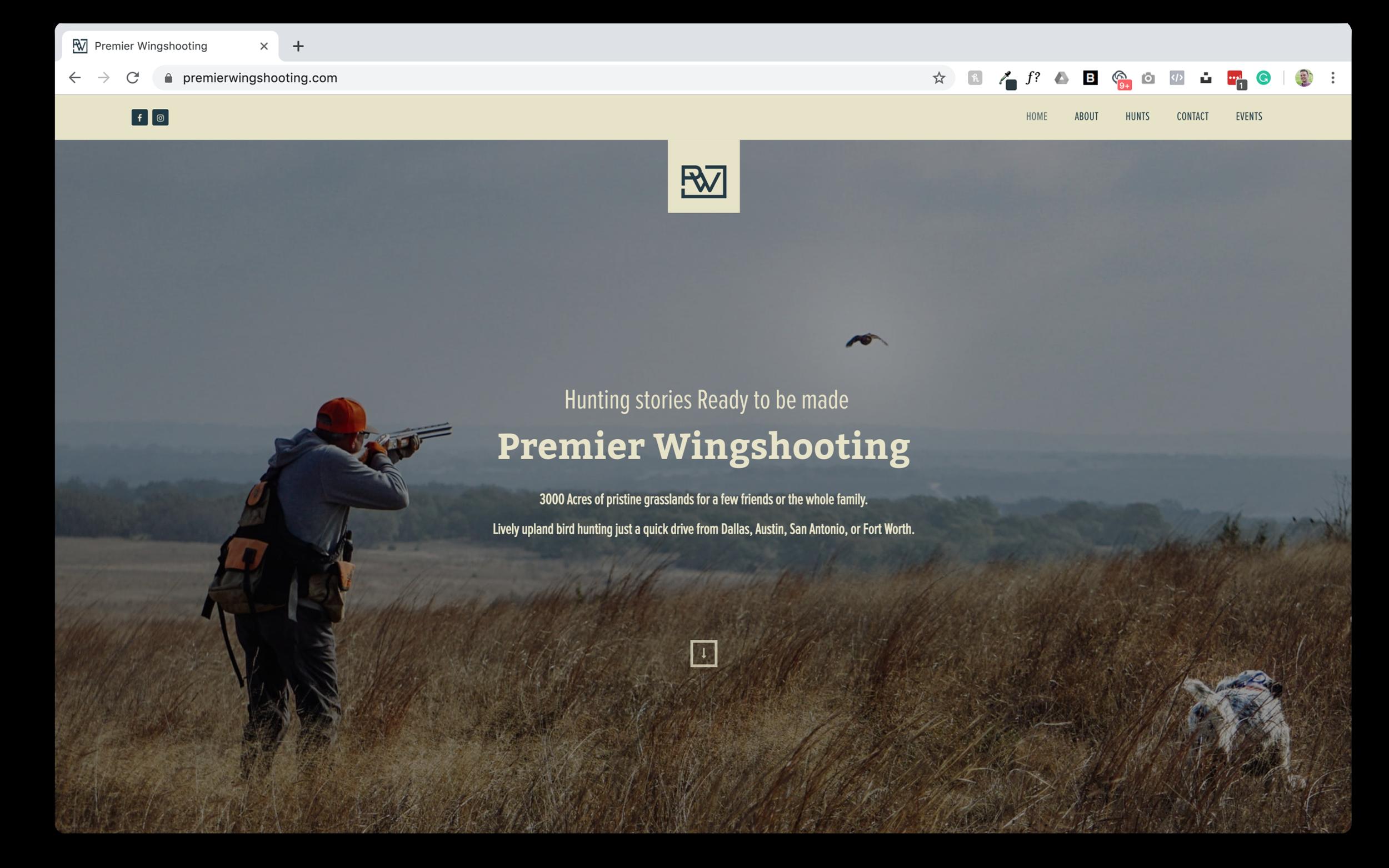 Premier Wingshooting Website Screenshot Drop Shadow.png