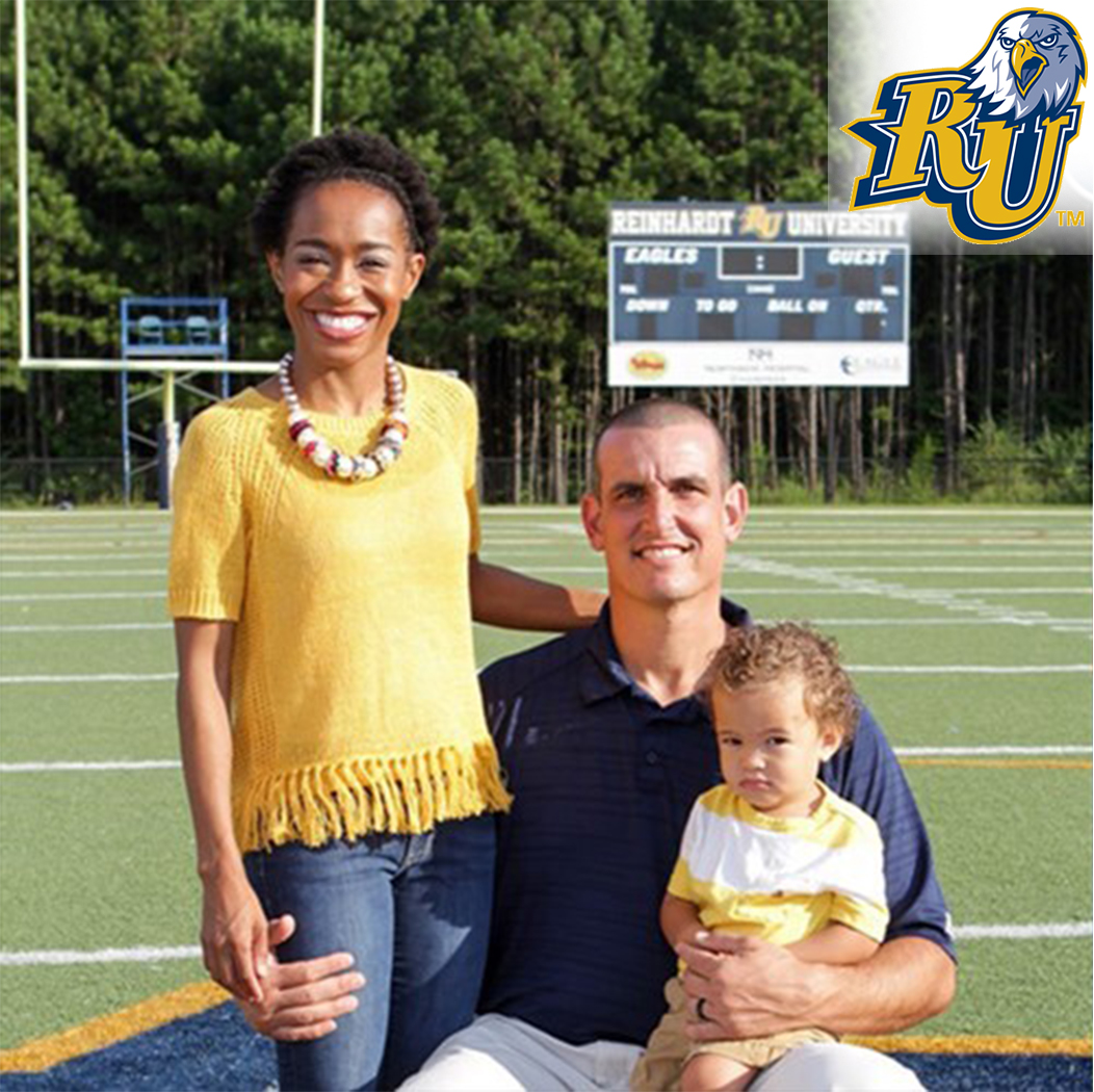 Head Coach James Miller is Joined by his wife Lauren and his son Keegan.
