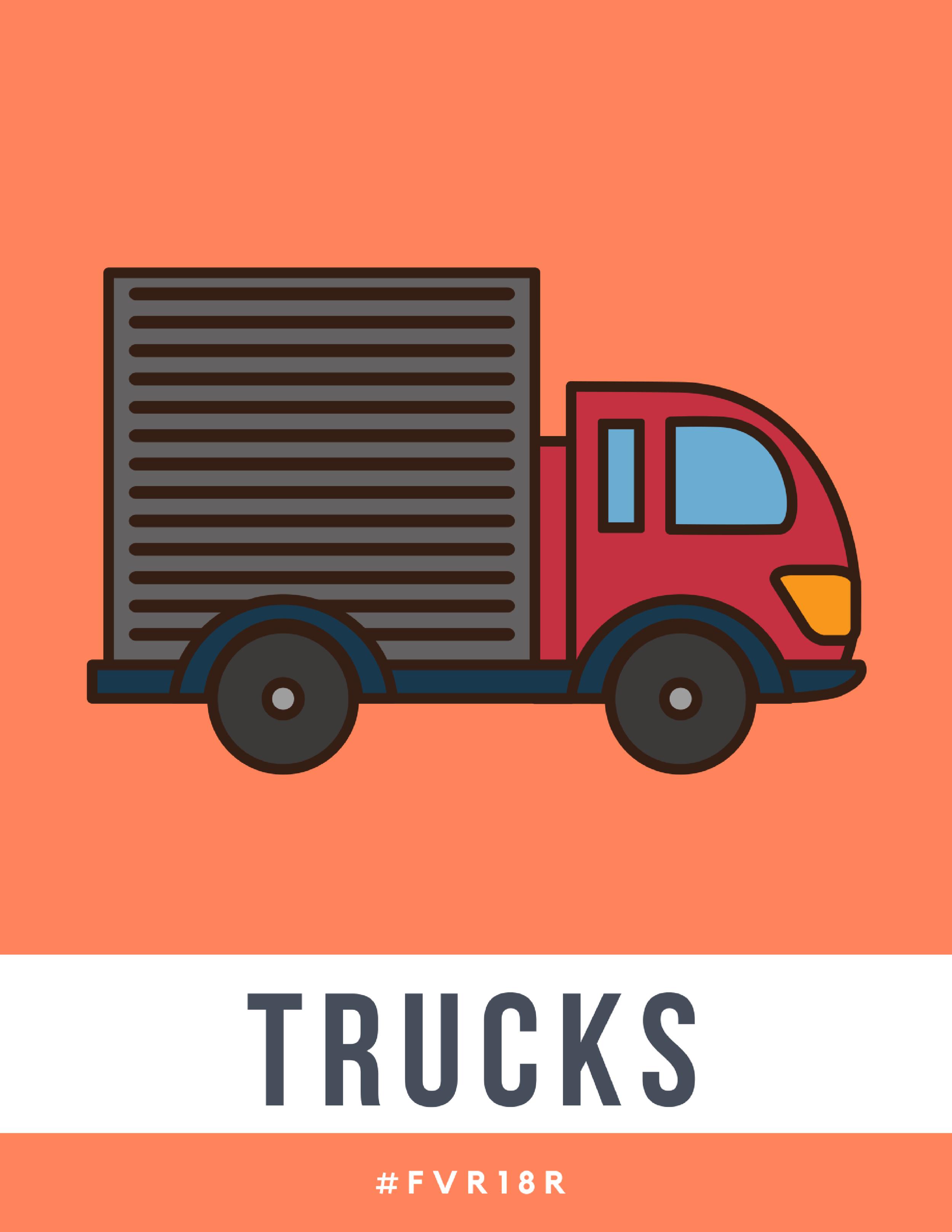 K-2 Library Signage, Trucks