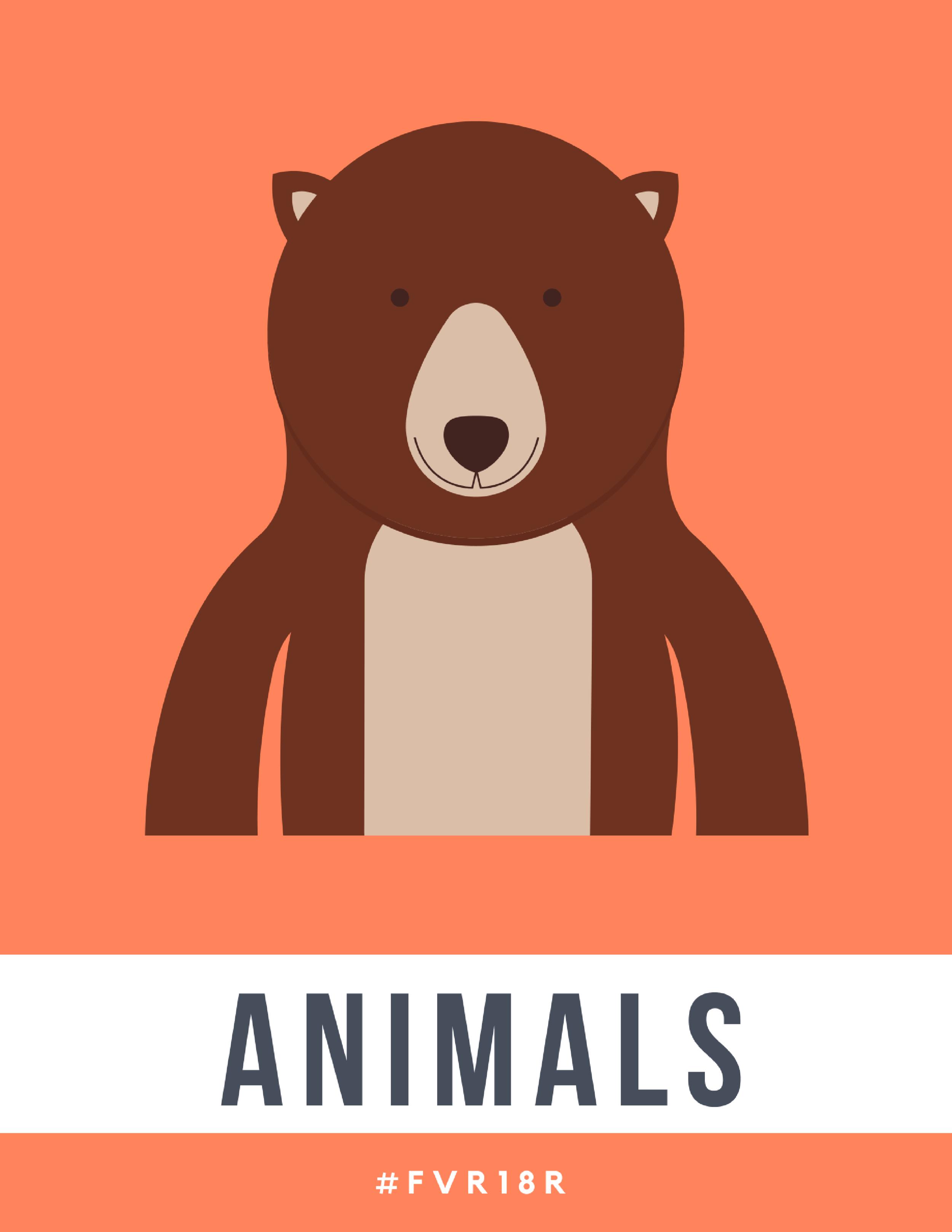 K-2 Library Signage, Animals