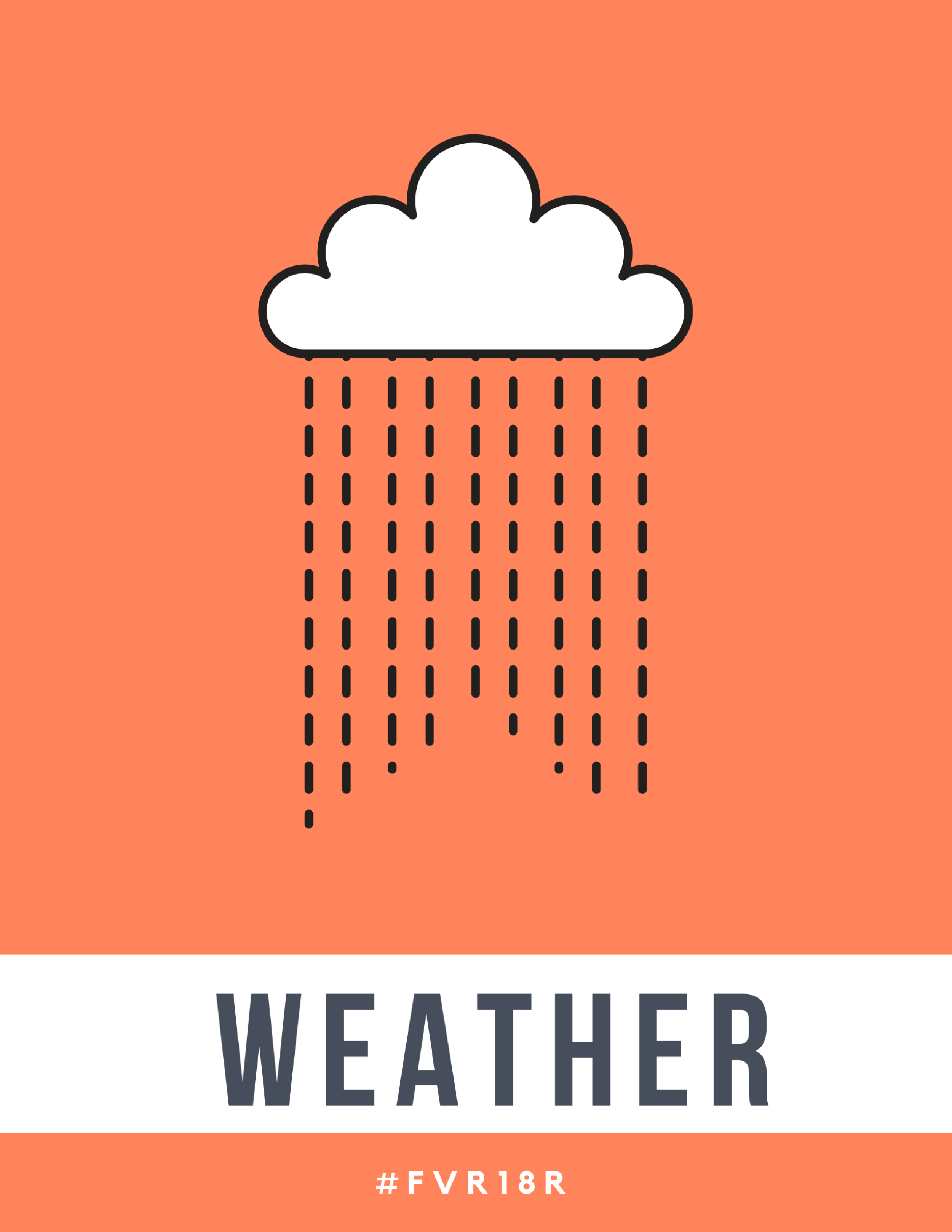 K-2 Library Signage, Weather