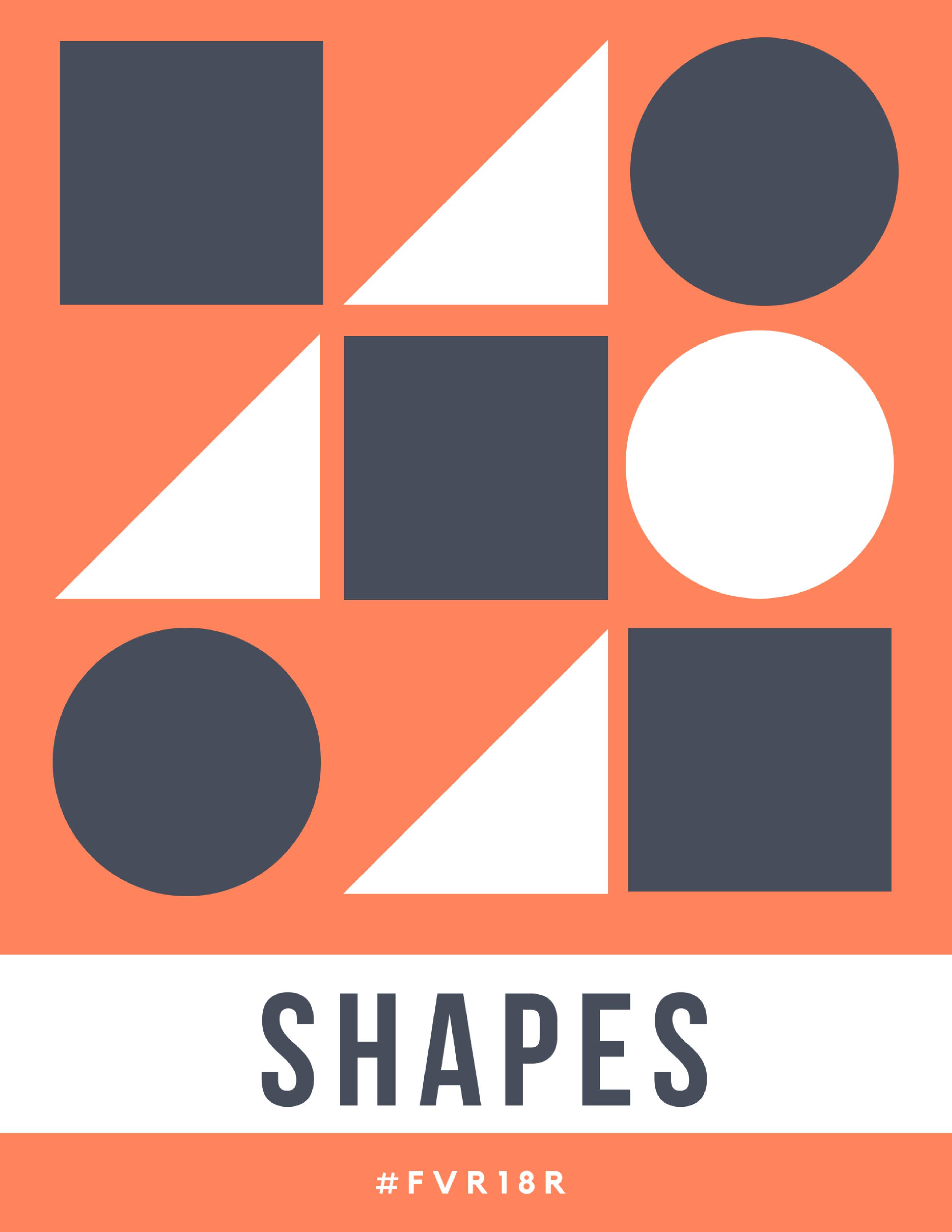 K-2 Library Signage, Shapes